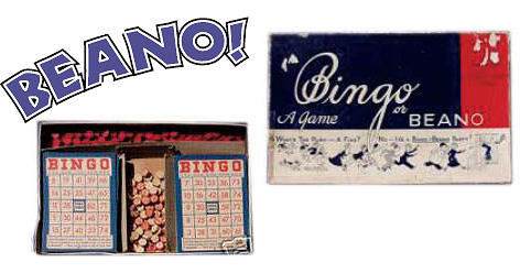 Beano and Bingo game pieces