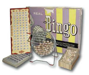 Bingo game pieces