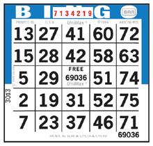 75 number bingo game face