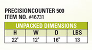 Precision Counter Dimensions
