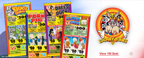 Looney Tunes 1 Window Seal Tickets