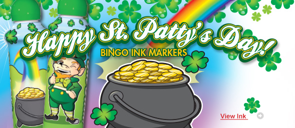 St. Patrick's Day Bingo Ink Markers