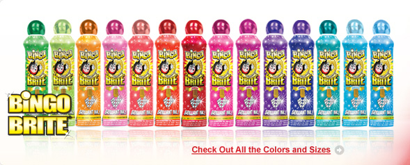 Bingo Brite Bingo Ink Daubers - Check out all the colors and sizes!
