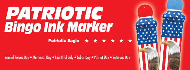 Patriotic Eagle Bingo Ink Daubers